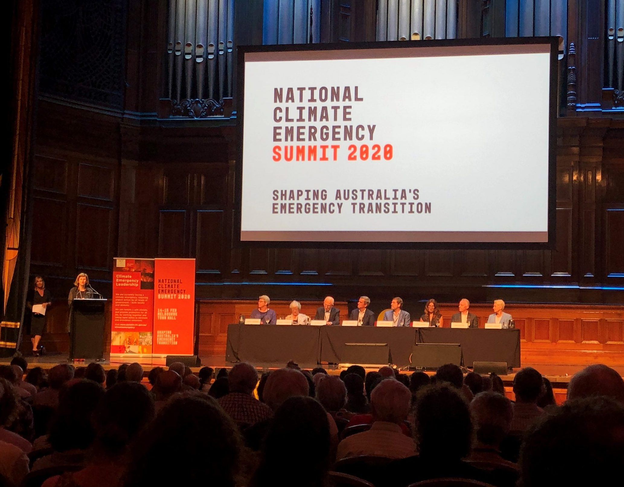 Attending the National Climate Emergency Summit