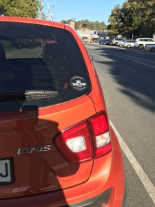 Jack's Ignis with the Go Neutral carbon offset sticker.